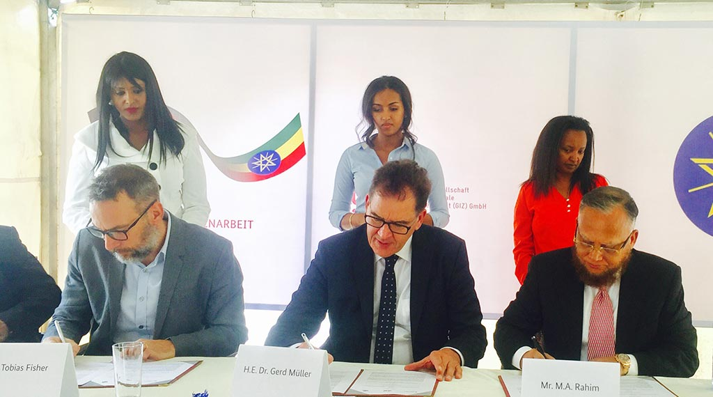 Letter of Intent signing ceremony between DBL-H&M-GIZ
