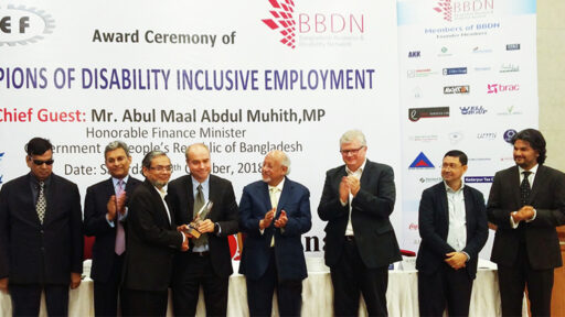 DBL Group becomes the Champion at the Bangladesh Business & Disability Network (BBDN) Award 2018